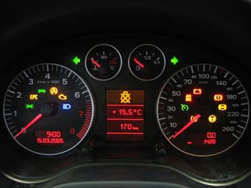 Audi A3 Mk2 8p Dash Lights