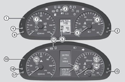 Mercedes Sprinter 906 Mk2 Car Warning Lights