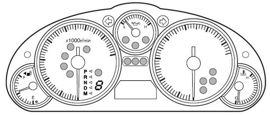 Mazda MX-5 Miata Mk3 Dash Speedo Cluster Warning Light Symbols Diagnostic World