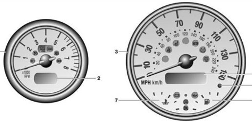 Mini R50 R52 R53 Dash Warning Light Symbols Guide